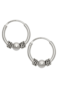 Small Silver Hoops Balls