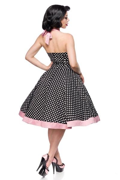 Kleid schwarz rosa