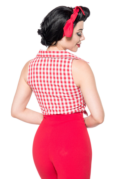 99f4d5793f16 ... Belisama Red-White Chequered Retro Blouse ...