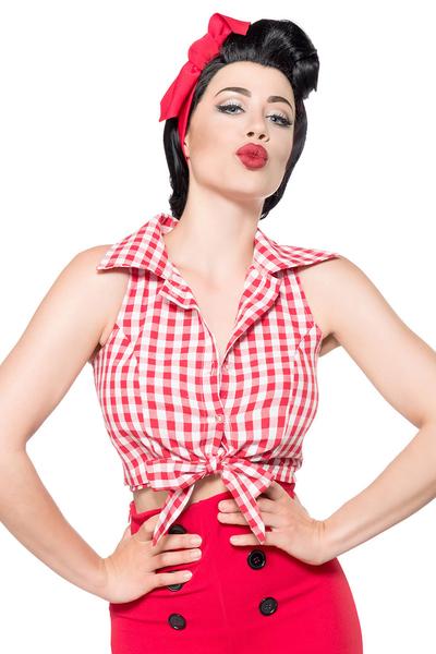 715b11b3905b Belisama - Rot-Weiß-Karierte Bluse