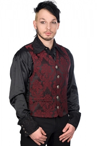 Dark Vest Brocade - Bordeaux - Aderlass