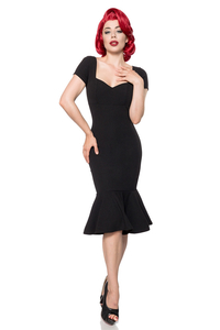 Rhonda - Pencil Dress mit Saumvolant