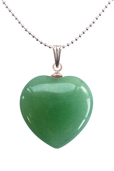 Heart shaped semi precious stone pendant with aventurine 890 heart shaped semi precious stone pendant with aventurine mozeypictures Images