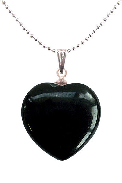 Heart shaped semi precious stone pendant with onyx 890 heart shaped semi precious stone pendant with onyx mozeypictures Images