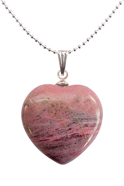 Heart shaped semi precious stone pendant with rhodonite 890 heart shaped semi precious stone pendant with rhodonite aloadofball Image collections