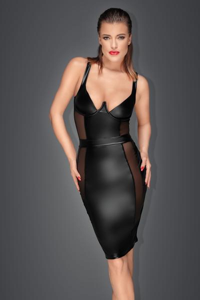 a45984cb2a MUSE - Wetlook-Kleid mit transparenten Einsätzen, 69,90 €