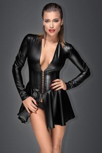 NOIR HANDMADE HIGH WAIST HOSE clubwear kunstleder schwarz wetlook muse gothic