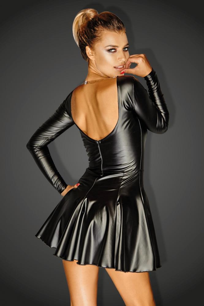 Diva Powerwetlook Mini Dress With Eyelets Egoist 59 00