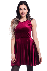 Edit - Skater Dress - Wine