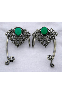 Elfen Ear Cuff Ornate Jewel - Ohrklemme Tombak...