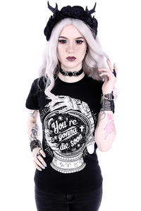 T-Shirt mit  weißem Print - Youre Gonna Die Soon