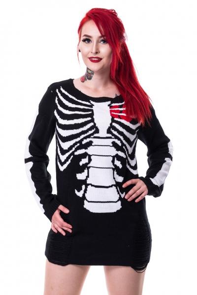 size 40 1cec0 513c7 Internal - Schwarz-Weißer Pullover mit Ribcage