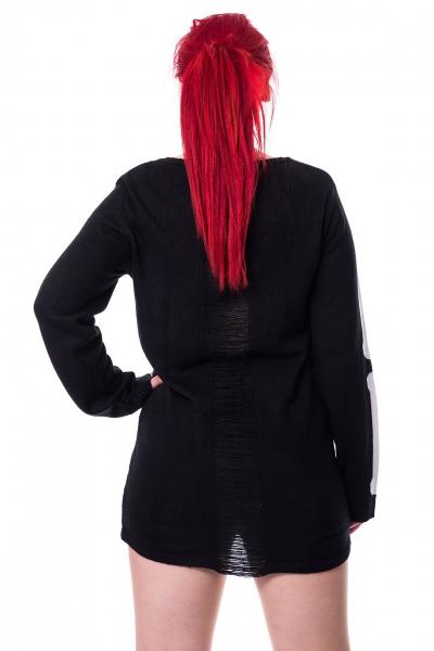 size 40 14498 a68eb Internal - Schwarz-Weißer Pullover mit Ribcage