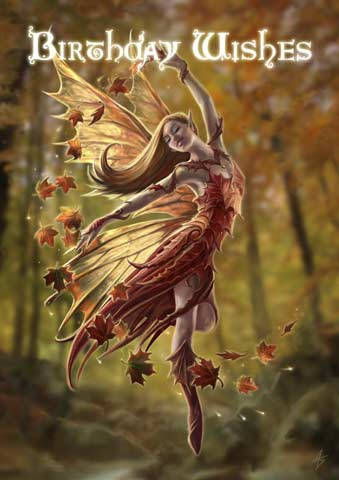 Autumn fairy birthday card 299 autumn fairy birthday card bookmarktalkfo Image collections