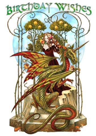 Briar Geburtstagskarte   Garden of the Fire Drake, 2,99 €