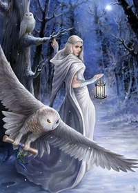 Anne Stokes Jul-Grußkarte - Midnight Messenger