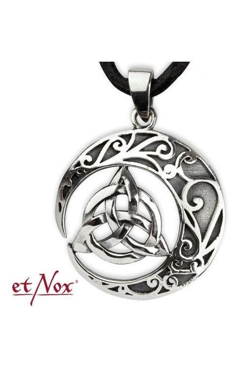 Keltischer Knoten Anhänger mit Ornamenten Silber 925er