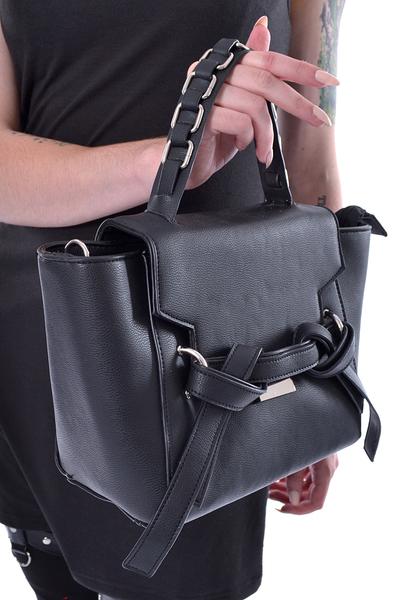 493742c542128 Lara Bag - Schwarze Handtasche mit Knotendetail ...