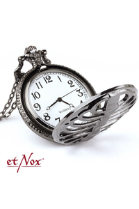 Skeleton Dark Silver Colour Chain Watch
