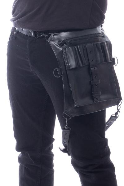 Details zu Vixxsin Goth Gothic Punk Herren Shorts Kurze Hose Anton Zipper Schwarz