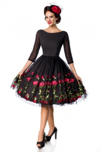 Embroidered Premium Vintage Swing Dress