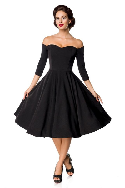 c5f61a04c9ff Black Premium Vintage Swing Dress