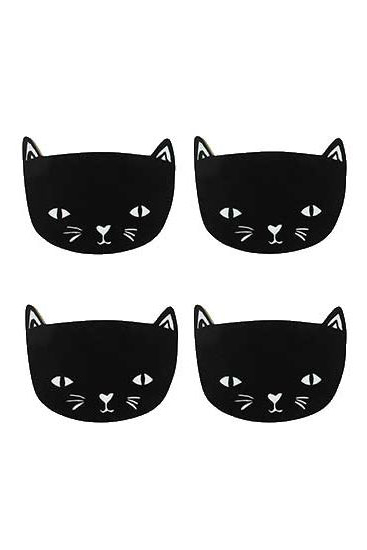 Untersetzer Black Cat - 4er-Pack