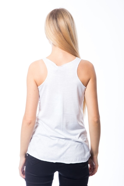 Cute Cat - Racerback Top - White