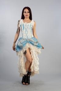 e8f76e61baa49 Ophelie Maxi Corset Dress - Schwarz-Violett, 109,00 €
