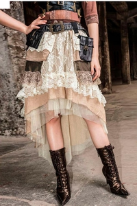High Low Steampunk Layer Skirt