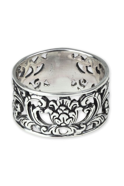 etNox Ornament Silver Ring
