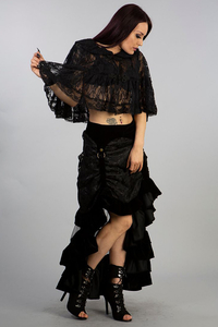 Burleska Francesca gothic bolero in black lace