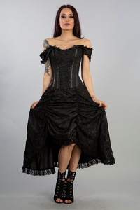Burleska Passion Corset Dress in black brocade and lace...