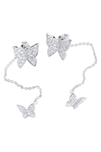 Earrings Crystal Butterfly