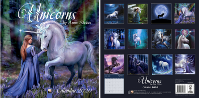 Unicorns by Anne Stokes - Einhörner-Kalender 2020