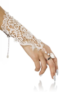 Filigree White Lace Cuff