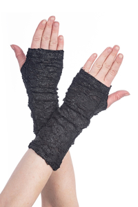 Leather Look Distressed Armwarmer