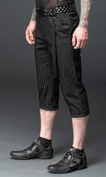 7/8 Trousers with Pinstripes and detachable Strap