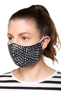 Community Face Mask in Black/White Pattern