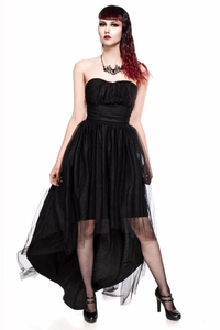 High Low Gothic Tulle Dress