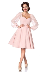 Blushed Vintage Dress with Net Sleeves
