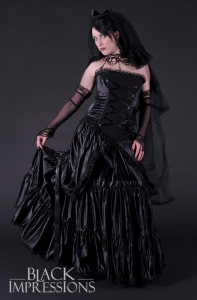 Gothic Bride Dark Wedding Dress