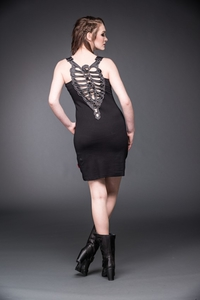 Macabre Skelett-Shirtkleid