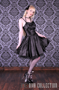 Audrey Satin Bow Dress