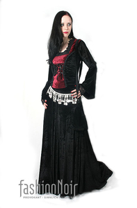 Deadly Whisper Velvet Skirt - Black